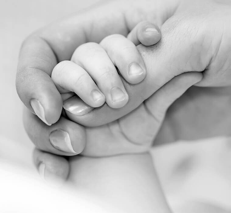 Babyfotos Detail von Hand und Finger