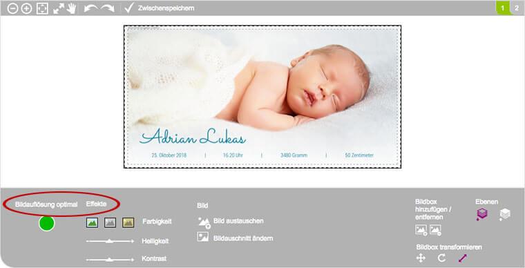 Online-Editor von kartenmacher.ch