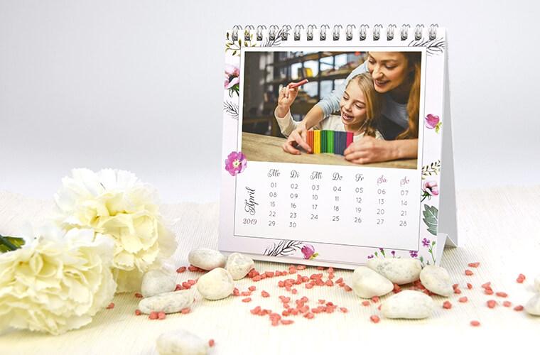 Teelichter als Muttertags-Geschenk Kalender mit Foto von kartenmacher.ch