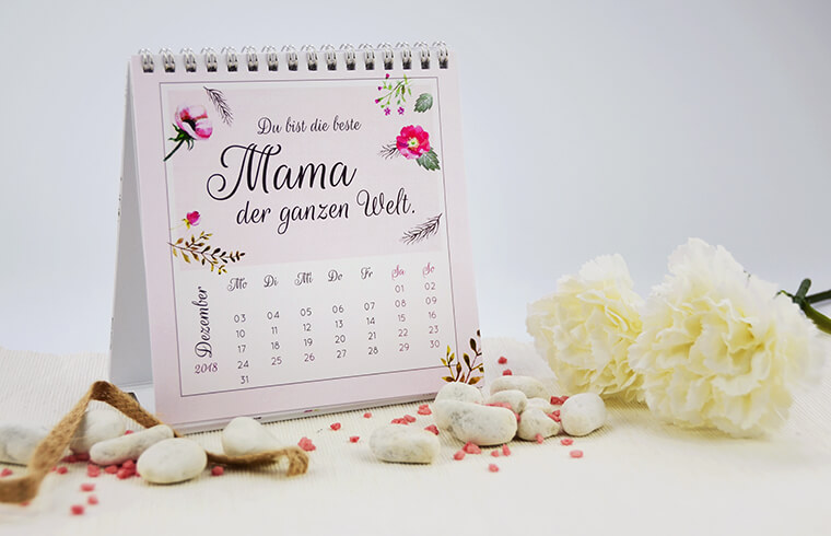 Teelichter als Muttertags-Geschenk Kalender von kartenmacher.ch