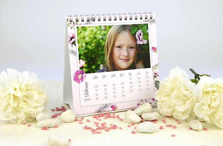 Teelichter als Muttertags-Geschenk Tischkalender mit Foto von kartenmacher.ch