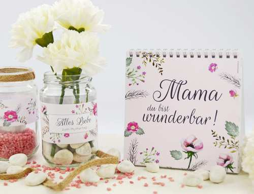 Muttertags-Geschenk selbst basteln: Anleitung für schöne Teelichter