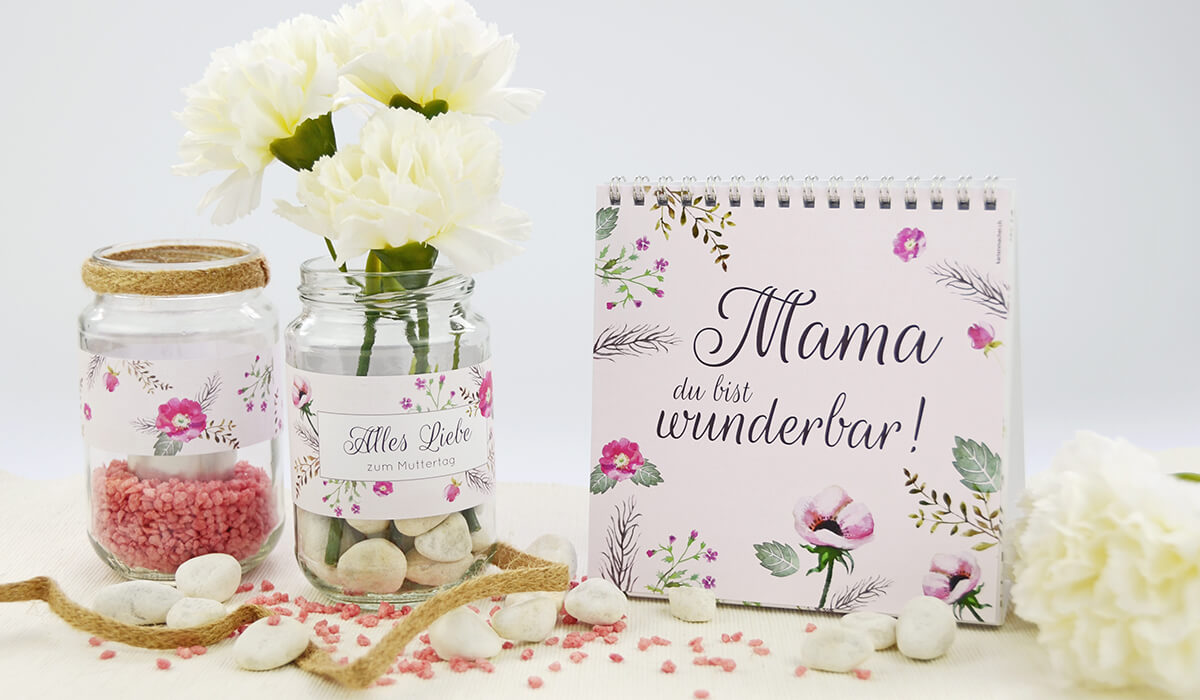 Teelichter als Muttertags-Geschenk kartenmacher.ch