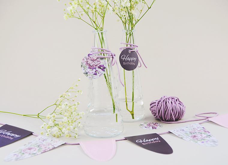 Deko-Wimpel und Vasen kartenmacher