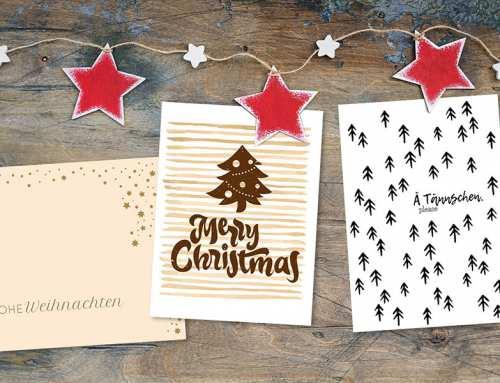 Weihnachtskarten für Firmen online drucken lassen