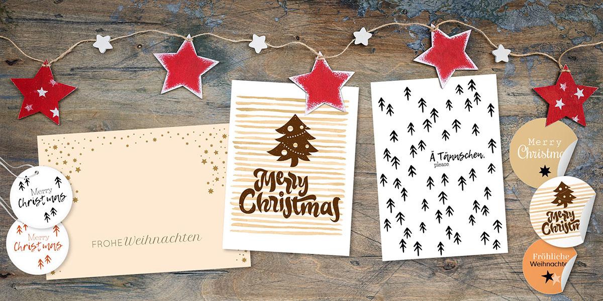Weihnachtskarten für Firmen bei kartenmacher.ch bestellen