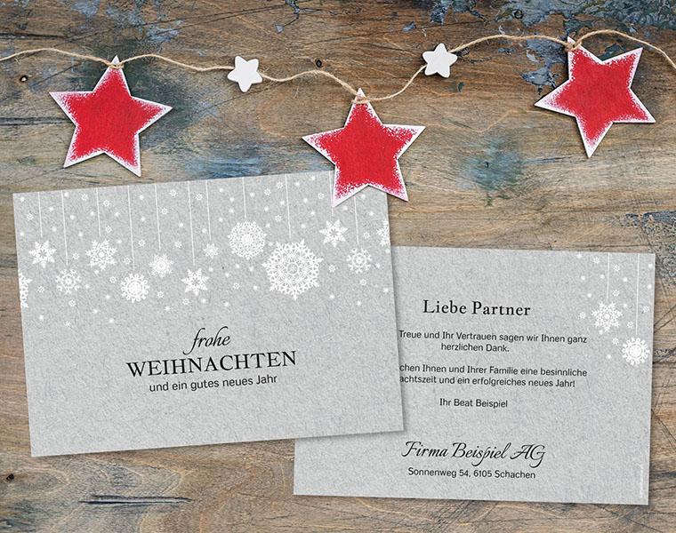 Weihnachtskarte Firmen «Festtagsschein» kartenmacher