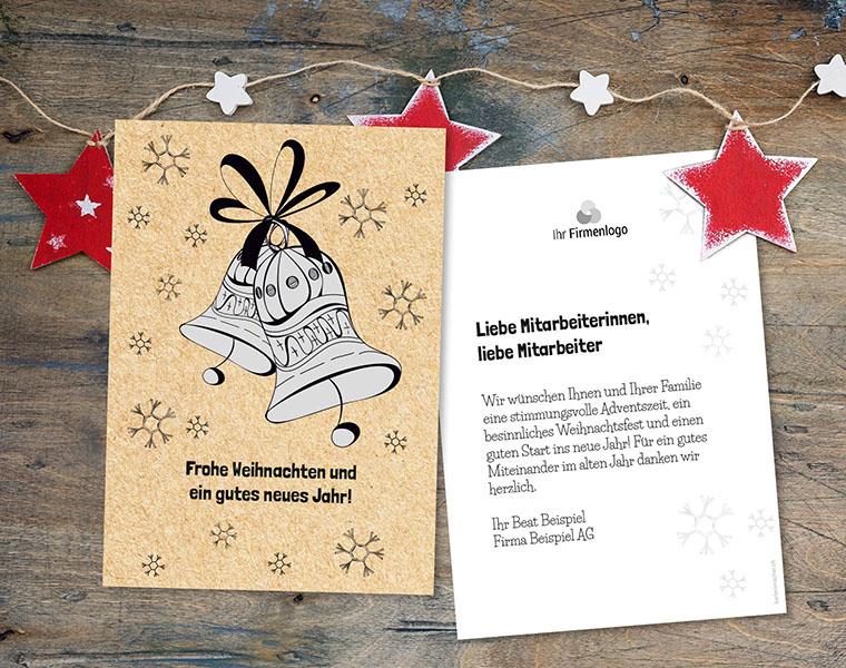 Weihnachtskarte Firmen «Glockenspiel» kartenmacher