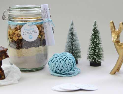 Brownie-Backmischung als Weihnachtsgeschenk