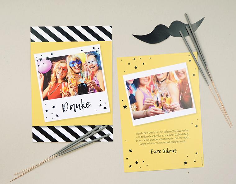 Silvesterparty Dankeskarte «Silvia» von kartenmacher