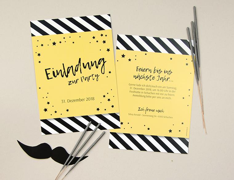 Silvesterparty Einladung «Silvia» von kartenmacher