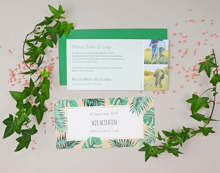 Maria-Luigi Einladungskarte zur Hochzeit