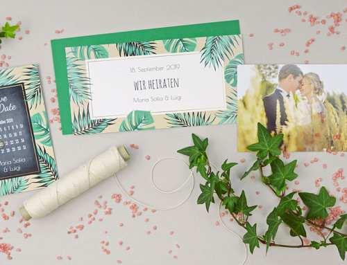 Hochzeitskarten in modernem Sommer-Design