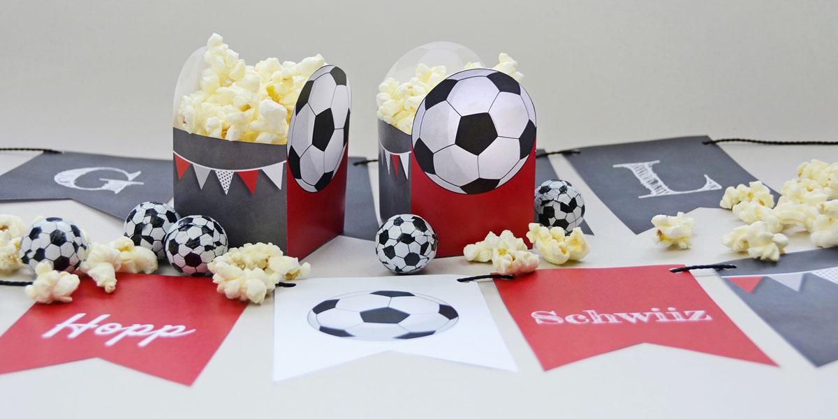Bastelbogen Fussball-Party kartenmacher