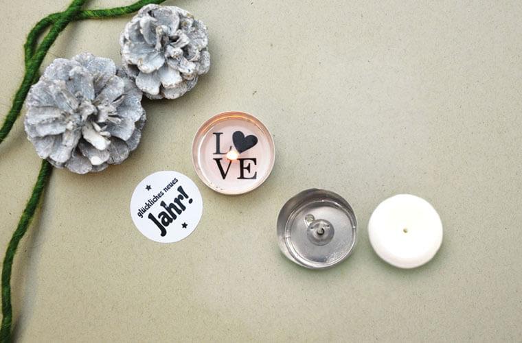 DIY Teelicht mit versteckter Botschaft zum selber Basteln