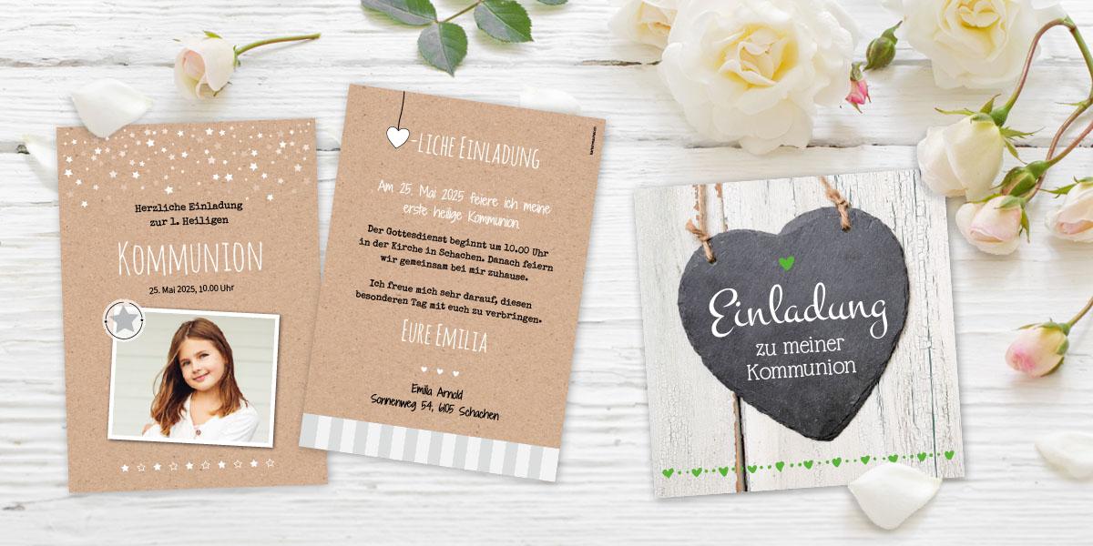 Kommunionskarte von kartenmacher Emilia und Anthony