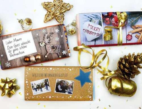 Adventstipp Nr. 4: Schokoladen-Banderolen als Last Minute Geschenkidee